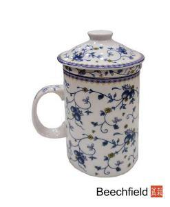 Fruit Vine Tea Infusing Porcelain Mug