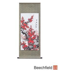 Plum Blossom Hand Painted Scroll Beechfield Bonsai