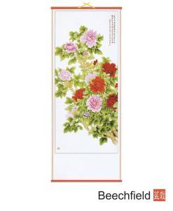 TS0607 Peonies Hanging Scroll Beechfield Bonsai
