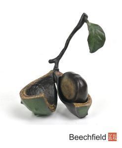 1037 Single Conker Bronze Figurine Figure Miniature Collectable Limited Beechfield Bonsai