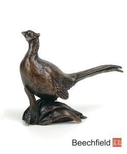 2076 Pheasant Bronze Figure Figurine Miniature Butler Peach Beechfield Bonsai