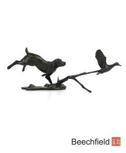 981 Cocker Spaniel with Duck Bronze Figurine Figure Miniature Michael Simpson Beechfield Bonsai
